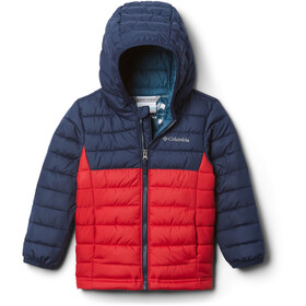 Columbia Powder Lite Hupullinen Takki Pikkulapset, mountain red/collegiate navy